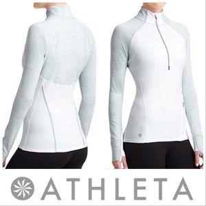 Athleta Running Wild Half Zip Pullover in White